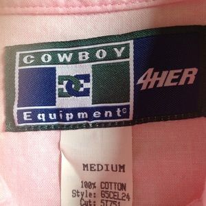 Tops - Medium Western Cowgirl Pink Top